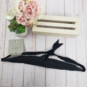 Zara Black Braided Wicker Ratan Headband Head Wrap